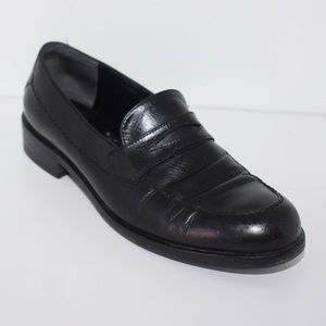 Black Leather Timeless Classic Loafers